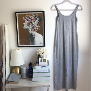 H&M grey maxi dress